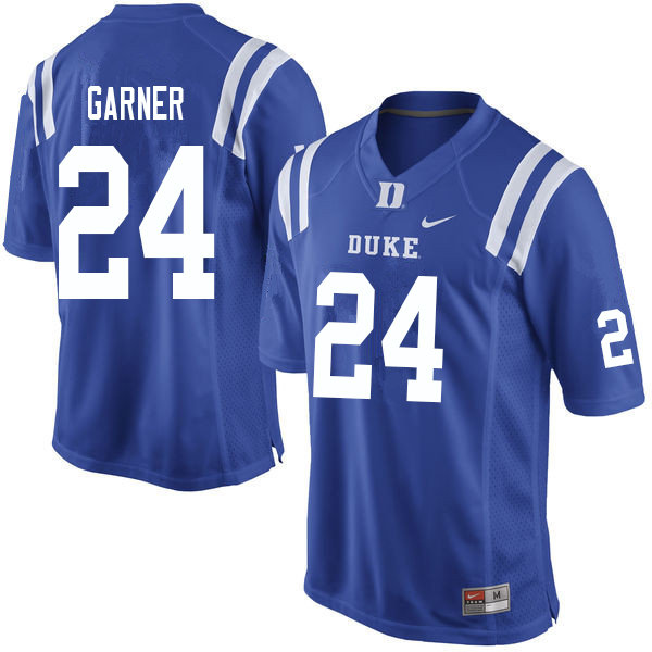 Men #24 Jarett Garner Duke Blue Devils College Football Jerseys Sale-Blue