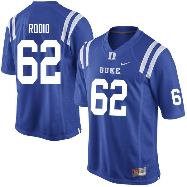 Men #62 Lee Rodio Duke Blue Devils College Football Jerseys Sale-Blue