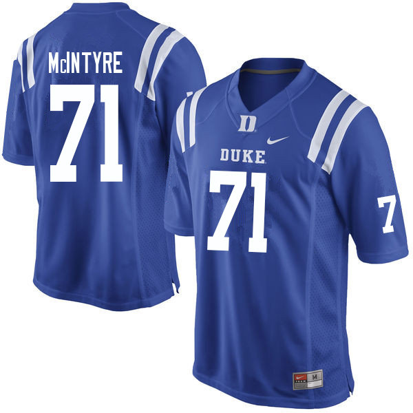 Men #71 Maurice McIntyre Duke Blue Devils College Football Jerseys Sale-Blue