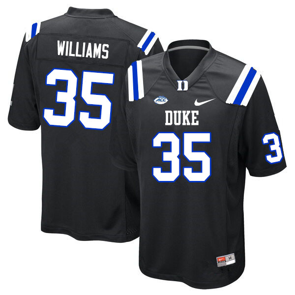 Men #35 Antone Williams Duke Blue Devils College Football Jerseys Sale-Black