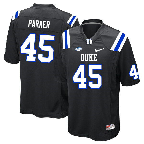 Men #45 Austin Parker Duke Blue Devils College Football Jerseys Sale-Black