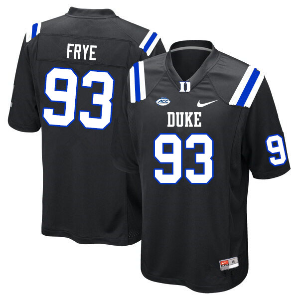 Men #93 Ben Frye Duke Blue Devils College Football Jerseys Sale-Black