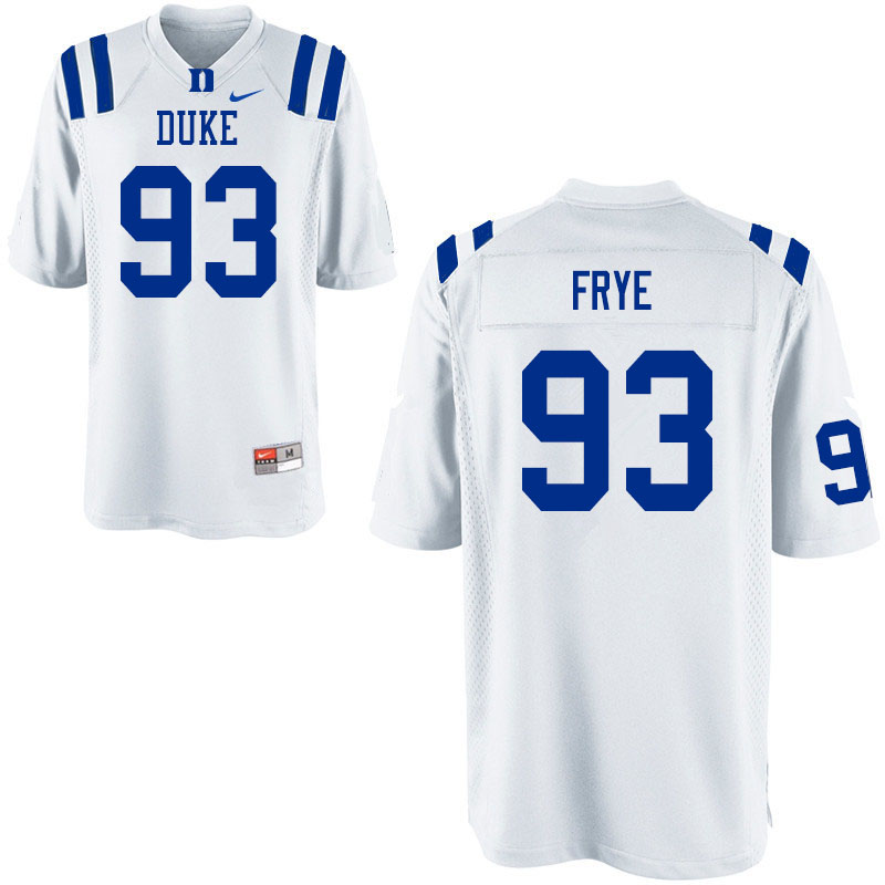 Men #93 Ben Frye Duke Blue Devils College Football Jerseys Sale-White