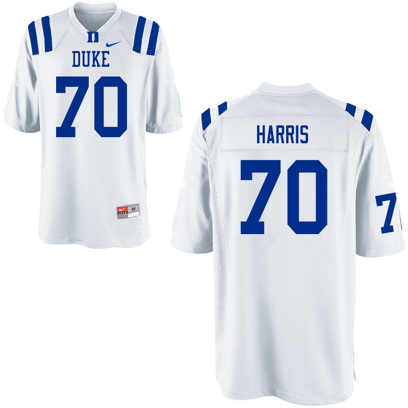 Men #70 Christian Harris Duke Blue Devils College Football Jerseys Sale-White