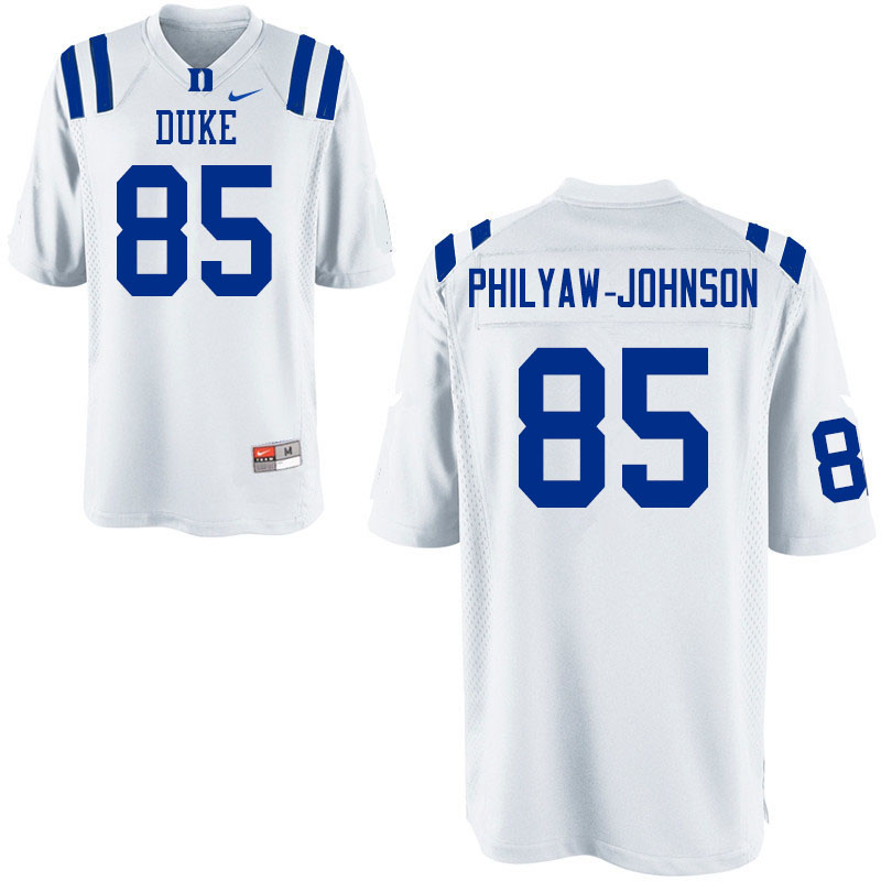 Men #85 Damond Philyaw-Johnson Duke Blue Devils College Football Jerseys Sale-White