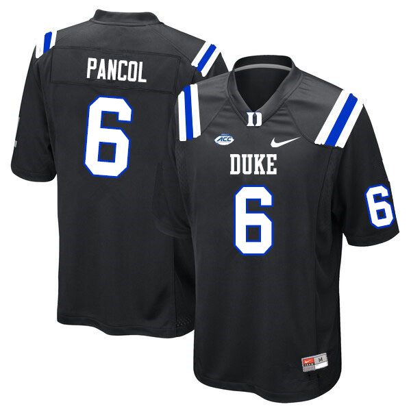 Men #6 Eli Pancol Duke Blue Devils College Football Jerseys Sale-Black