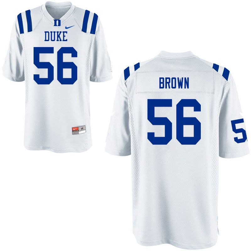 Men #56 Elijiah Brown Duke Blue Devils College Football Jerseys Sale-White
