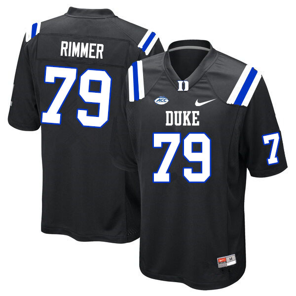 Men #79 Jacob Rimmer Duke Blue Devils College Football Jerseys Sale-Black