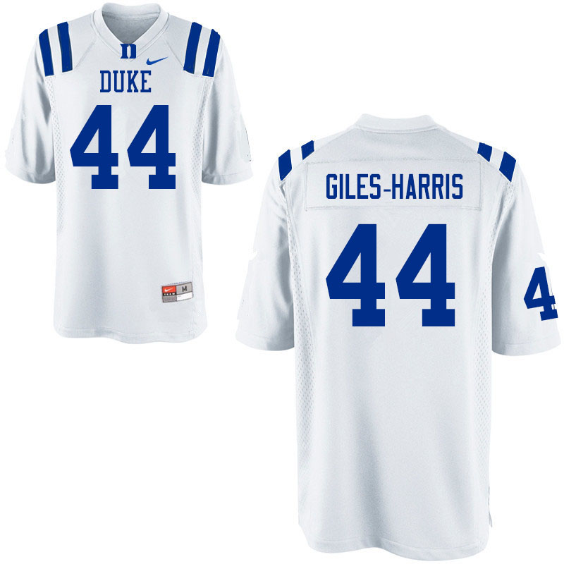 Men #44 Joe Giles-Harris Duke Blue Devils College Football Jerseys Sale-White