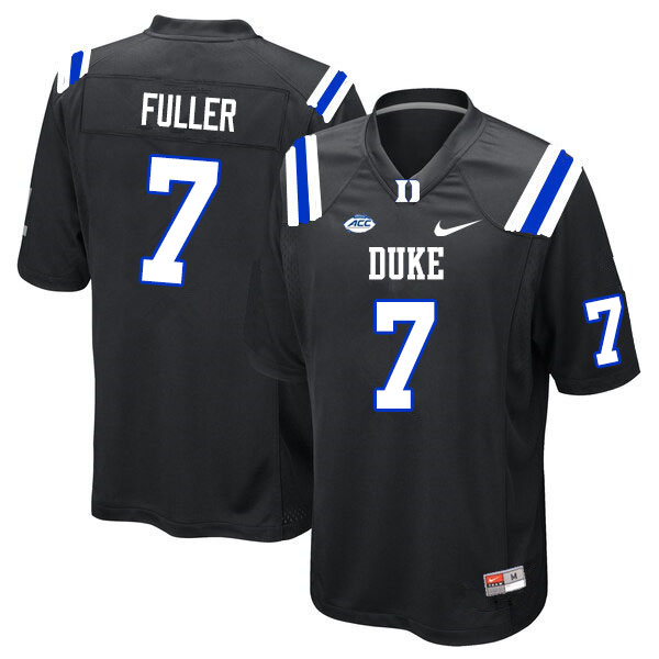 Men #7 Keyston Fuller Duke Blue Devils College Football Jerseys Sale-Black