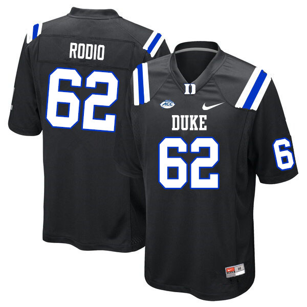 Men #62 Lee Rodio Duke Blue Devils College Football Jerseys Sale-Black