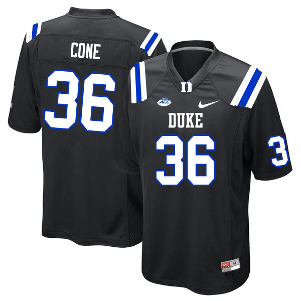 Men #36 Matthew Cone Duke Blue Devils College Football Jerseys Sale-Black