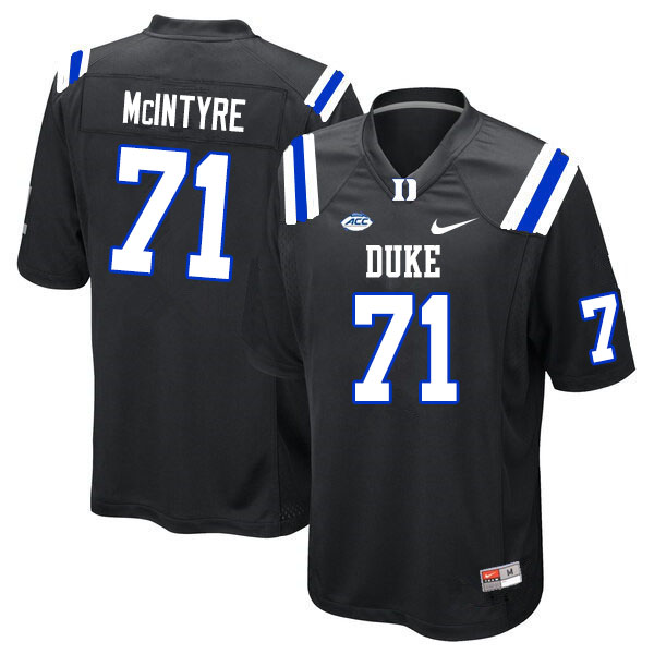 Men #71 Maurice McIntyre Duke Blue Devils College Football Jerseys Sale-Black