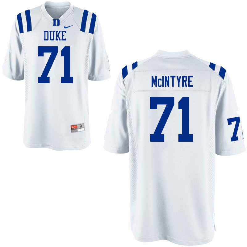 Men #71 Maurice McIntyre Duke Blue Devils College Football Jerseys Sale-White
