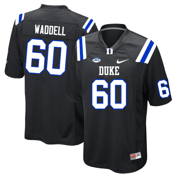 Men #60 Noah Waddell Duke Blue Devils College Football Jerseys Sale-Black