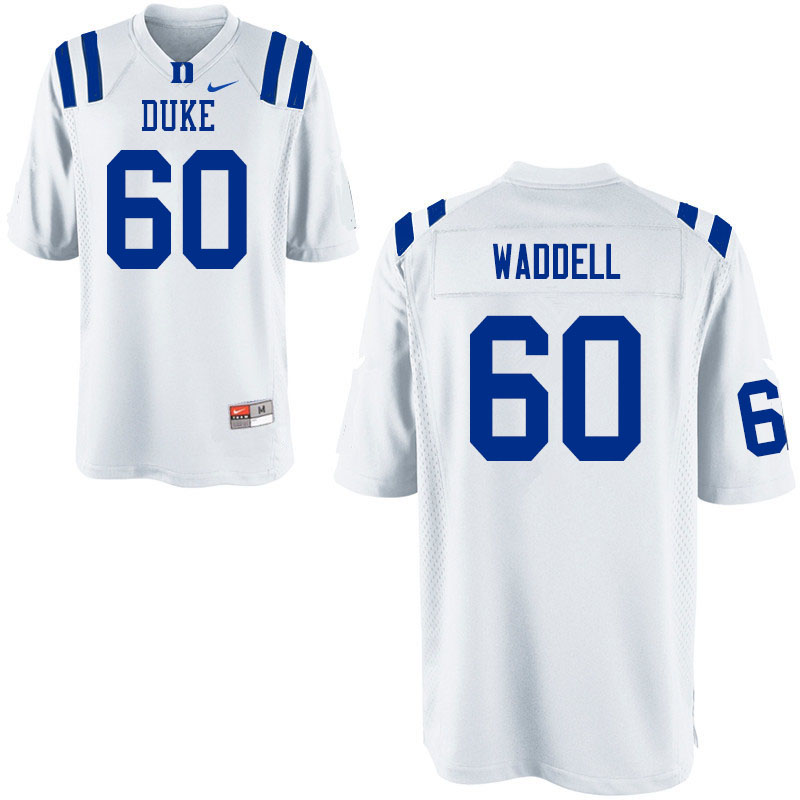 Men #60 Noah Waddell Duke Blue Devils College Football Jerseys Sale-White