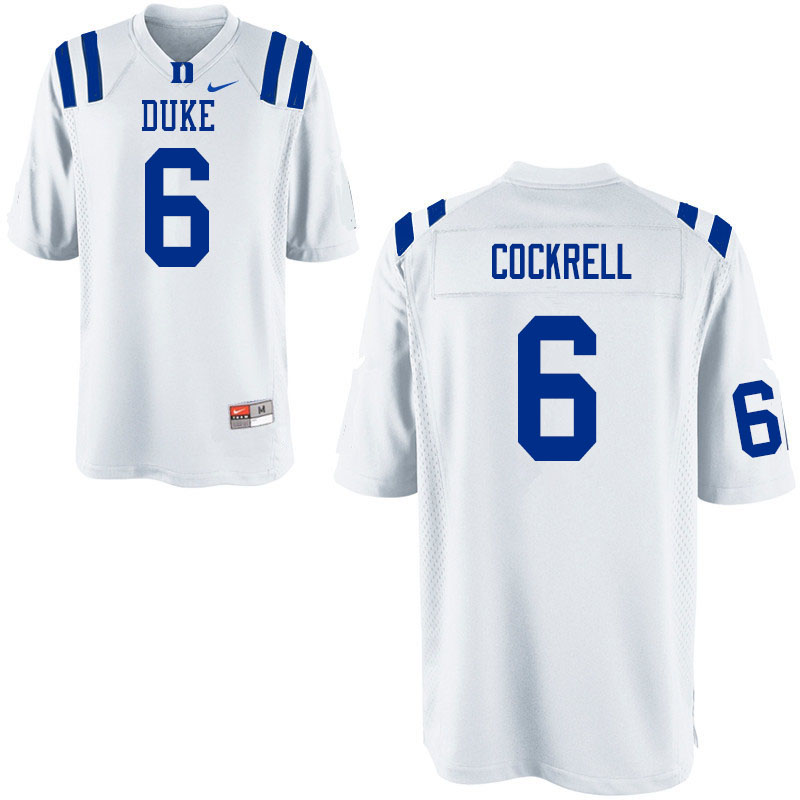 Men #6 Ross Cockrell Duke Blue Devils College Football Jerseys Sale-White