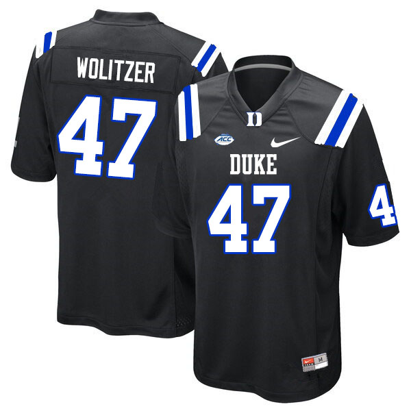 Men #47 Ryan Wolitzer Duke Blue Devils College Football Jerseys Sale-Black