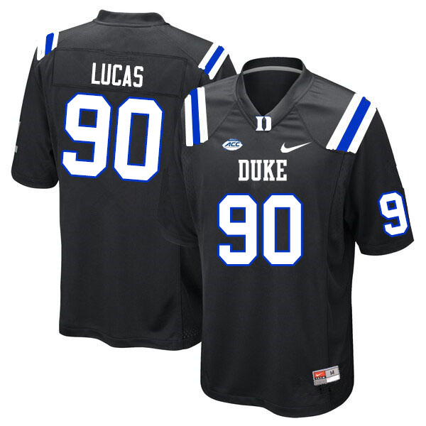 Men #90 Terrell Lucas Duke Blue Devils College Football Jerseys Sale-Black