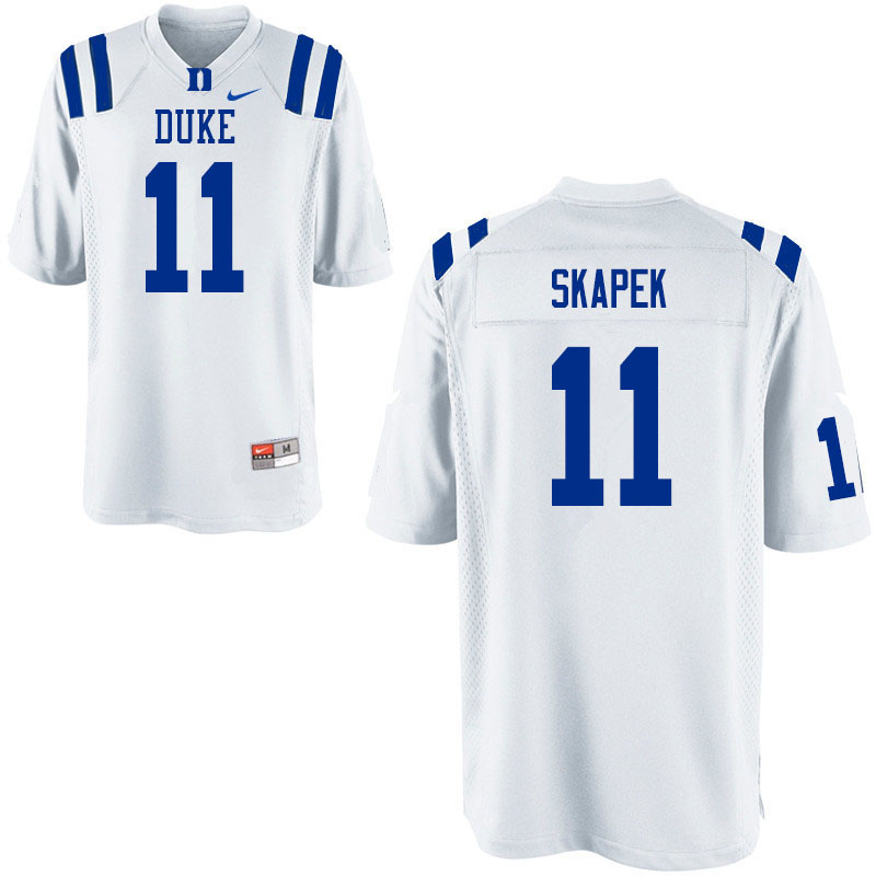 Men #11 Tim Skapek Duke Blue Devils College Football Jerseys Sale-White