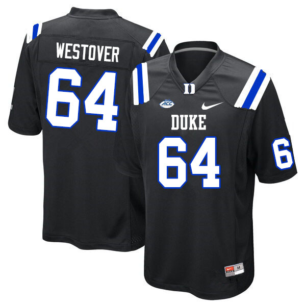 Men #64 Tristan Westover Duke Blue Devils College Football Jerseys Sale-Black