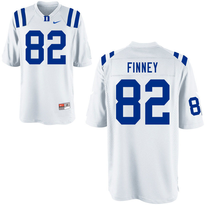 Men #82 Cole Finney Duke Blue Devils College Football Jerseys Sale-White