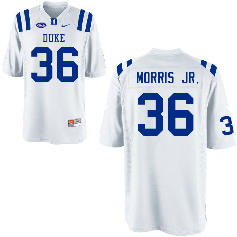 Men #36 Nick Morris Jr. Duke Blue Devils College Football Jerseys Sale-White