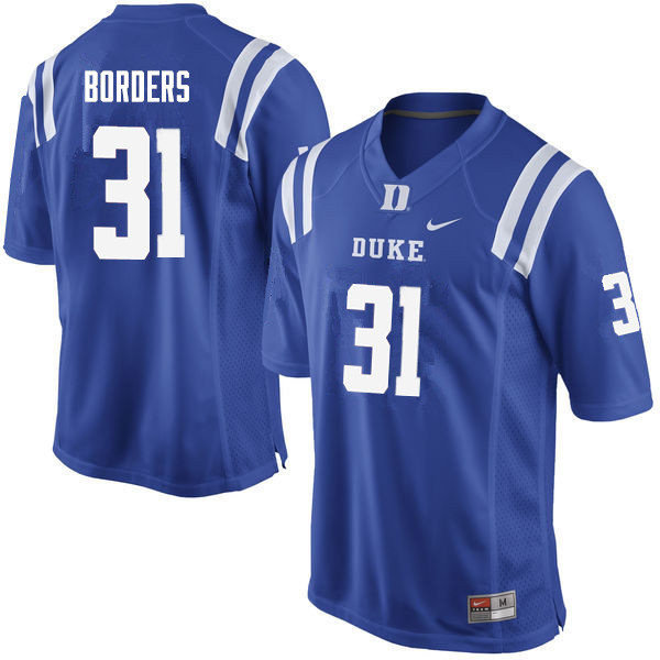 Men #31 Breon Borders Duke Blue Devils College Football Jerseys Sale-Blue