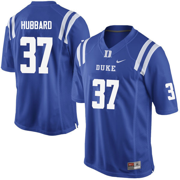 Men #37 Jackson Hubbard Duke Blue Devils College Football Jerseys Sale-Blue