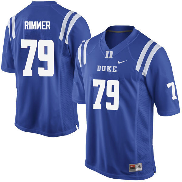 Men #79 Jacob Rimmer Duke Blue Devils College Football Jerseys Sale-Blue