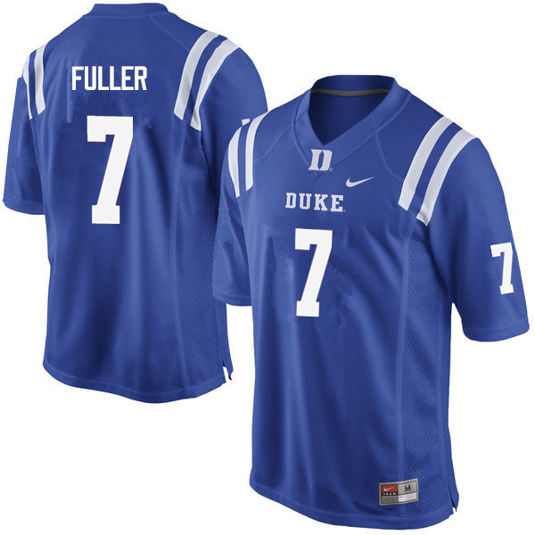Men #7 Keyston Fuller Duke Blue Devils College Football Jerseys Sale-Blue