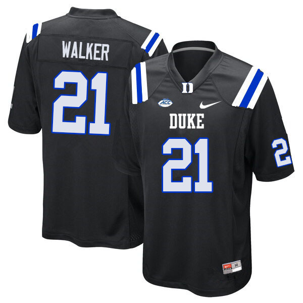 Men #21 Khilan Walker Duke Blue Devils College Football Jerseys Sale-Black