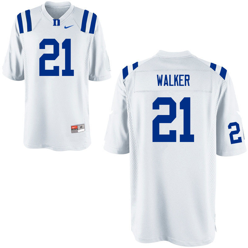 Men #21 Khilan Walker Duke Blue Devils College Football Jerseys Sale-White