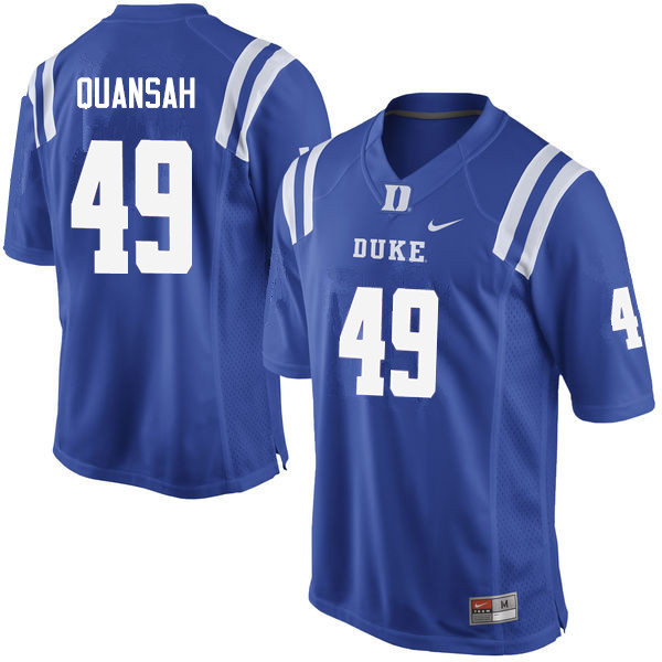 Men #49 Koby Quansah Duke Blue Devils College Football Jerseys Sale-Blue