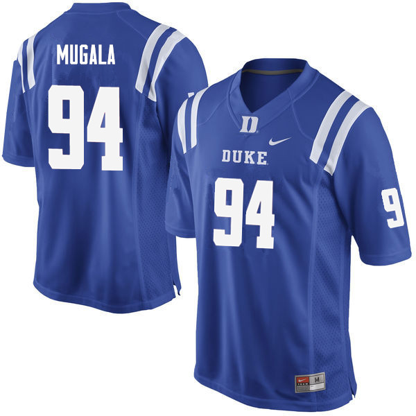 Men #94 Twazanga Mugala Duke Blue Devils College Football Jerseys Sale-Blue