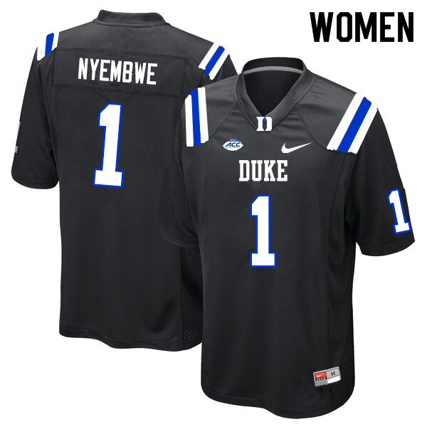 Women #1 Axel Nyembwe Duke Blue Devils College Football Jerseys Sale-Black