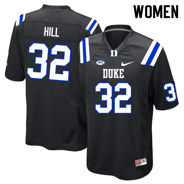 Women #32 Brandon Hill Duke Blue Devils College Football Jerseys Sale-Black