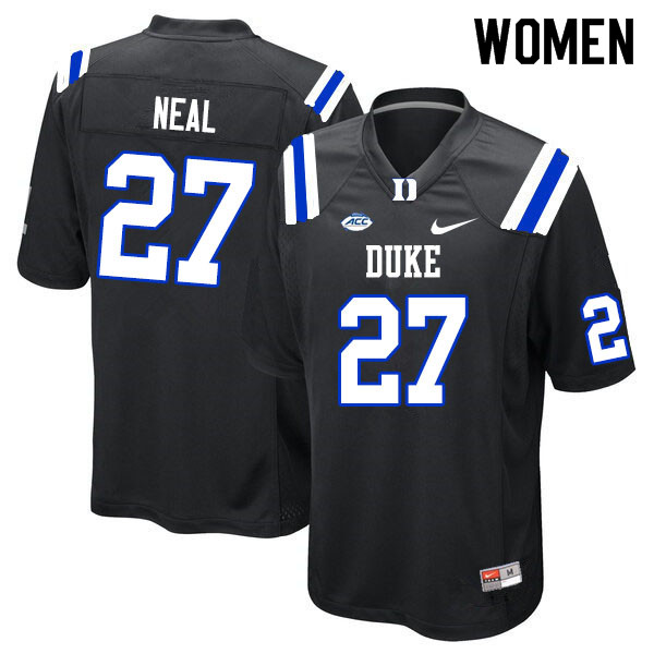 Women #27 Damani Neal Duke Blue Devils College Football Jerseys Sale-Black