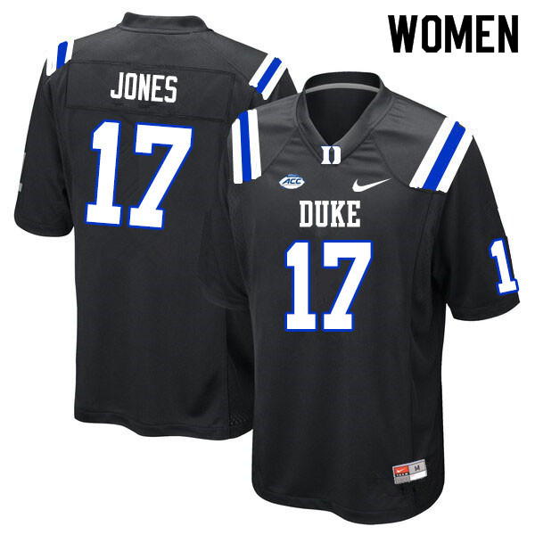Women #17 Daniel Jones Duke Blue Devils College Football Jerseys Sale-Black