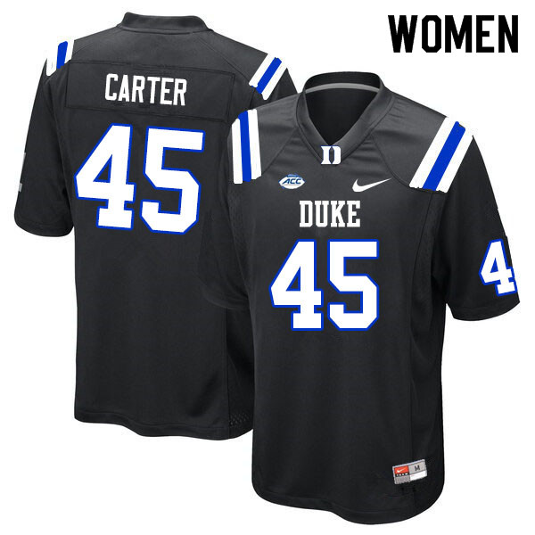 Women #45 Griffin Carter Duke Blue Devils College Football Jerseys Sale-Black