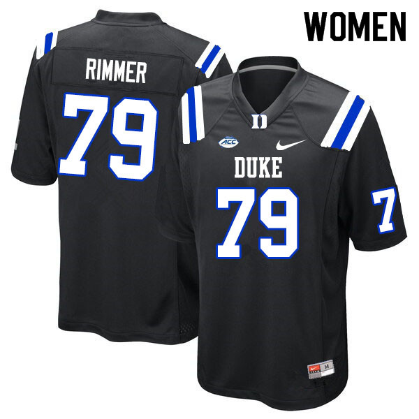 Women #79 Jacob Rimmer Duke Blue Devils College Football Jerseys Sale-Black
