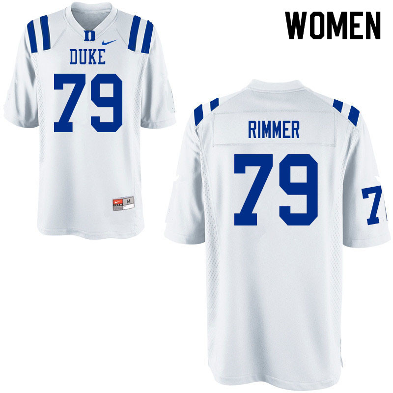 Women #79 Jacob Rimmer Duke Blue Devils College Football Jerseys Sale-White