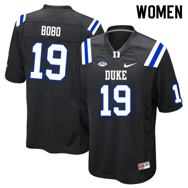 Women #19 Jake Bobo Duke Blue Devils College Football Jerseys Sale-Black