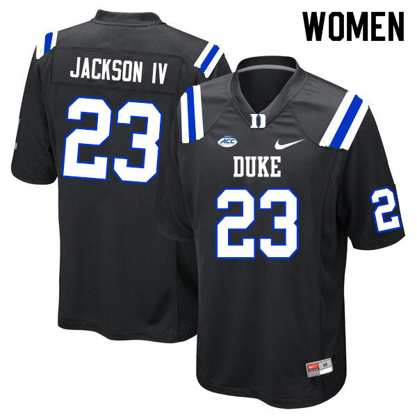 Women #23 James Jackson IV Duke Blue Devils College Football Jerseys Sale-Black