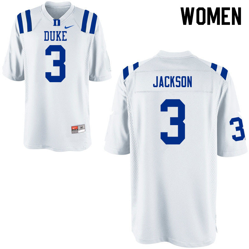 Women #2 Javon Jackson Duke Blue Devils College Football Jerseys Sale-White