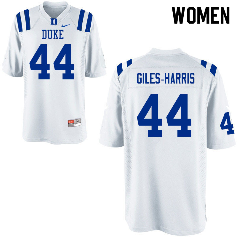 Women #44 Joe Giles-Harris Duke Blue Devils College Football Jerseys Sale-White