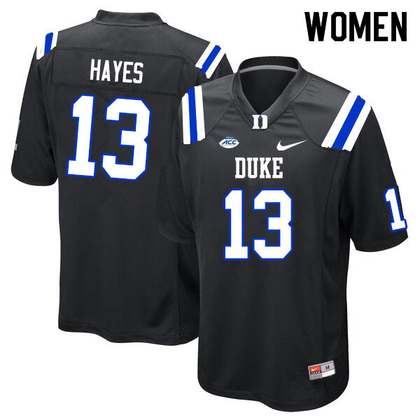 Women #13 Jordan Hayes Duke Blue Devils College Football Jerseys Sale-Black