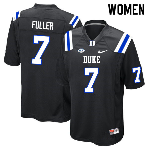Women #7 Keyston Fuller Duke Blue Devils College Football Jerseys Sale-Black
