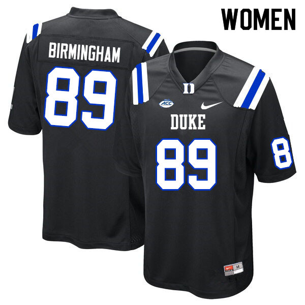 Women #89 Mark Birmingham Duke Blue Devils College Football Jerseys Sale-Black