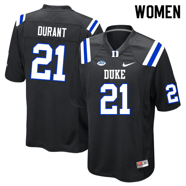 Women #21 Mataeo Durant Duke Blue Devils College Football Jerseys Sale-Black